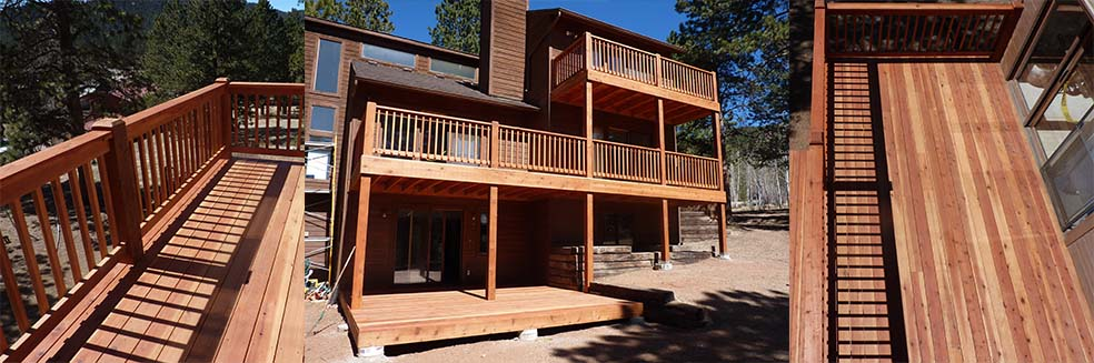 Deck on the Black Bear Home built in Colorado